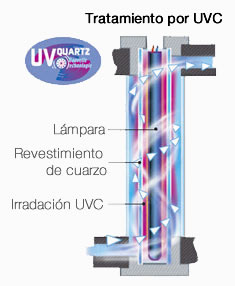lámpara ultravioleta bacterias